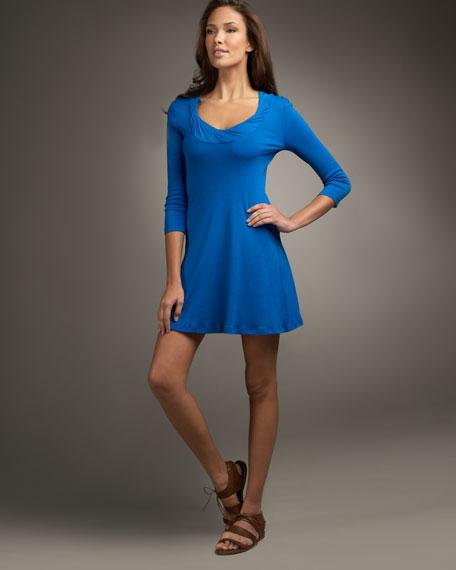 Twist-Neck Dress