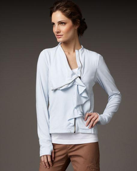 Ruffle Knit Jacket