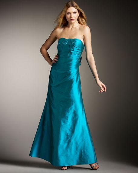 Strapless Silk Gown