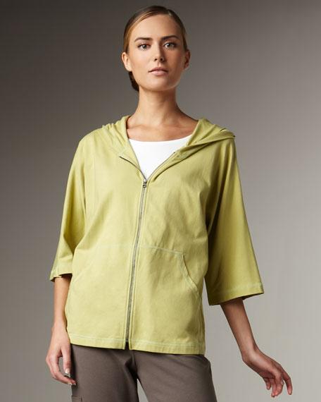 Organic-Cotton Zip Jacket