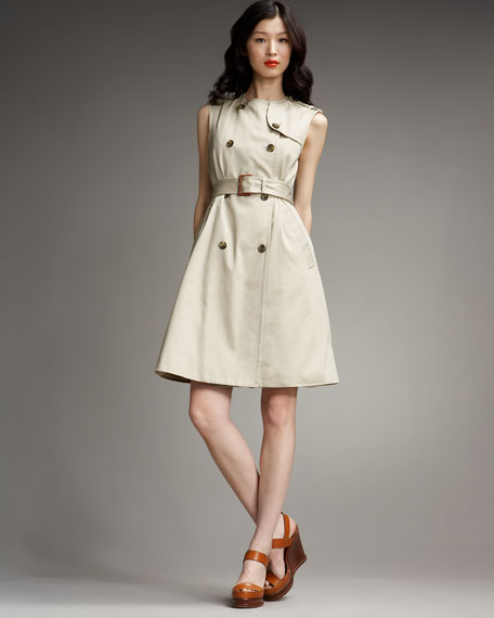 Laurence Sleeveless Trench Dress