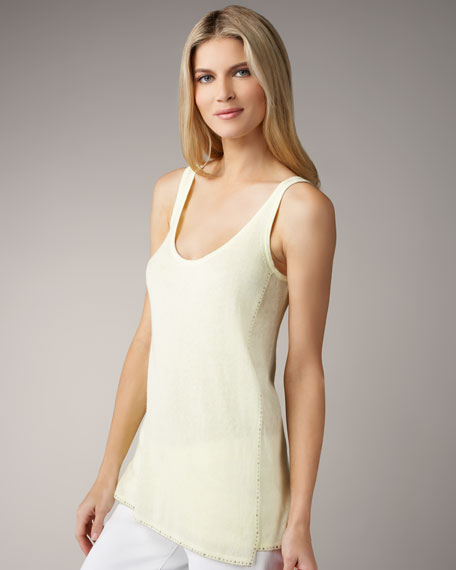 Magaschoni Embellished Cotton-Cashmere Tank