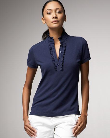 Neiman MarcusRuffled Polo