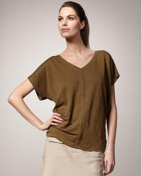 Linen Jersey Slouchy Top