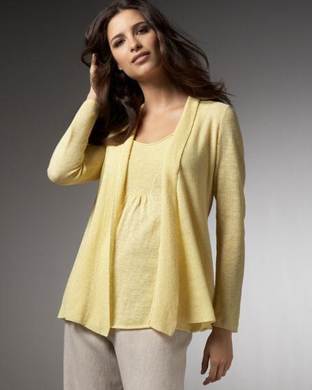 Fine-Gauge Linen Cardigan, Women's