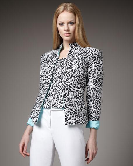 Leopard-Print Jacket & Vest Set