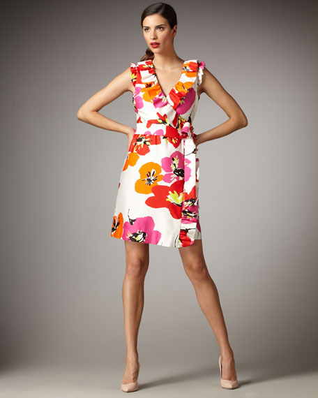 aubrey floral-print wrap dress
