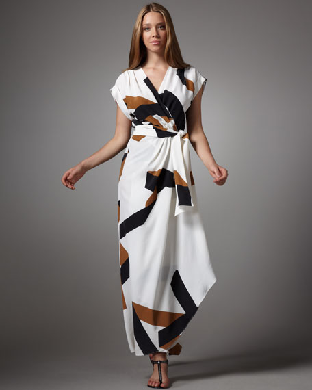 Diane von Furstenberg Ethyl Printed Maxi Dress