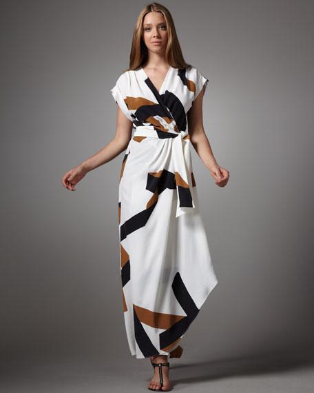 Diane von Furstenberg Ethyl Printed Maxi Dress