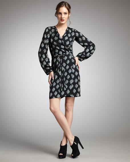 Nove Printed Wrap Dress