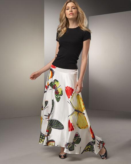 Butterfly-Print Skirt