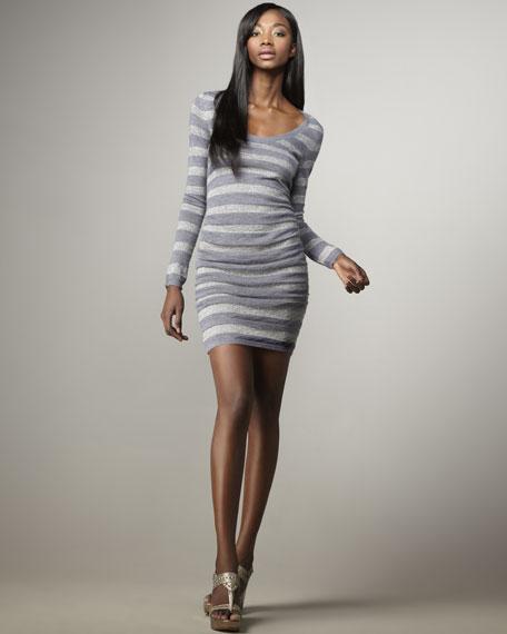 Metallic-Striped Dress