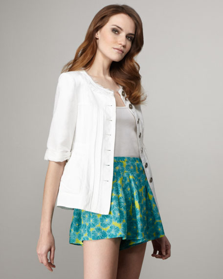 Shoo-In Floral-Printed Shorts