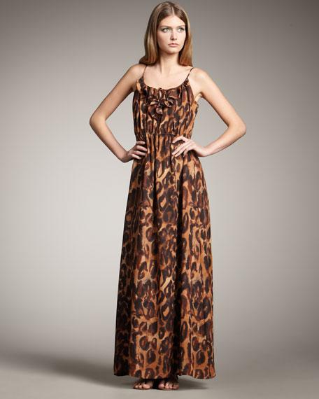 Leopard-Print Maxi Dress