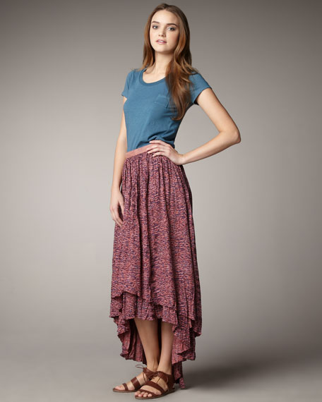 Maia Two-Tier Maxi Skirt