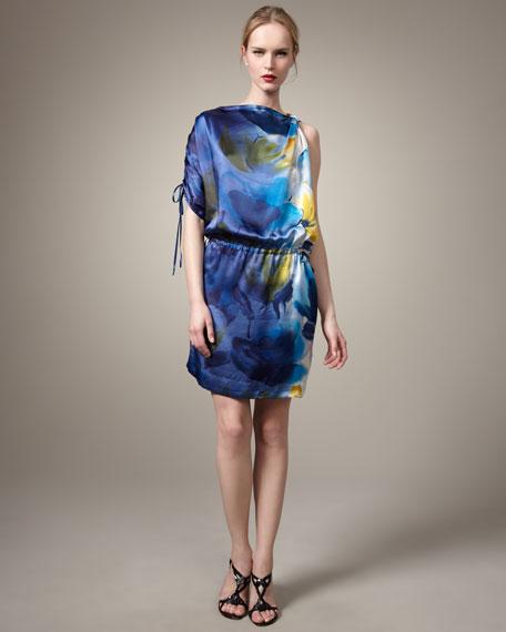Loah Printed Silk Dress