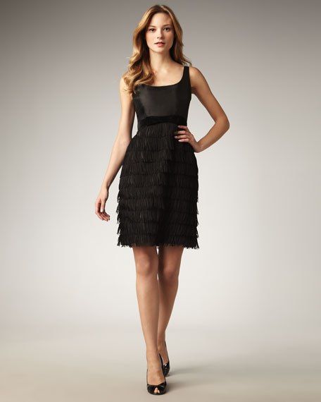 marielly fringe-skirt dress