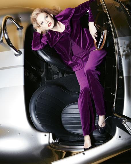 Relaxed Velour Jacket, Women's