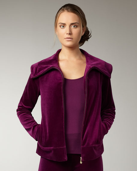 Relaxed Velour Jacket
