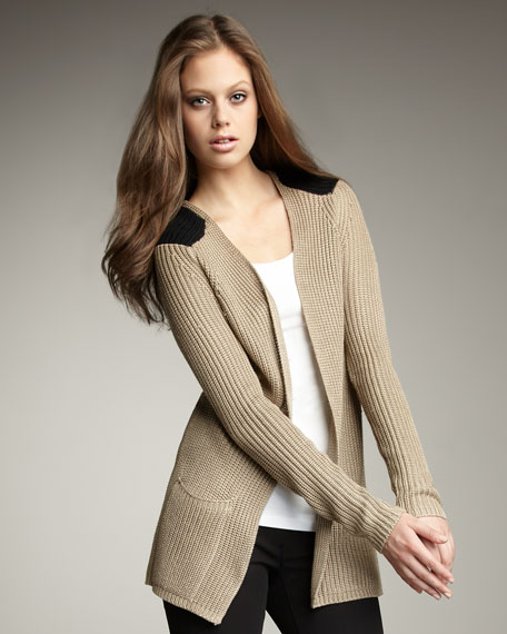 Ribbed Silk Cardigan
