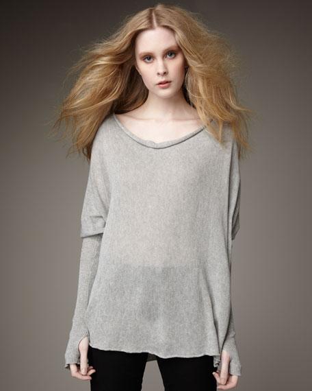 Cowl-Neck Pullover, Gray
