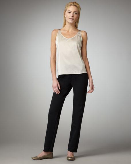 Heavyweight Rayon Slim Pants