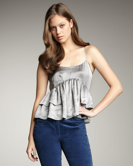 Ruffled Metallic Top
