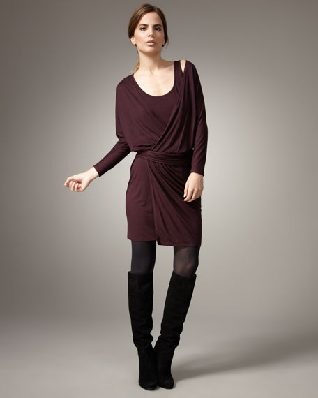Crisscross Jersey Dress