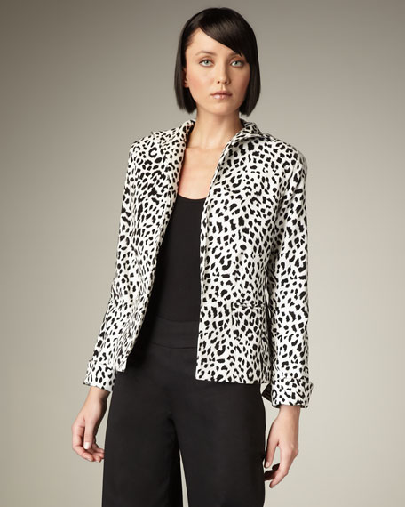 Leopard-Print Velvet Jacket