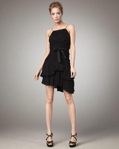 Lynda Pleated Dress, Black