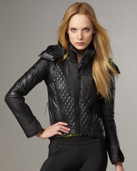 Quilted Ski Jacket, Black