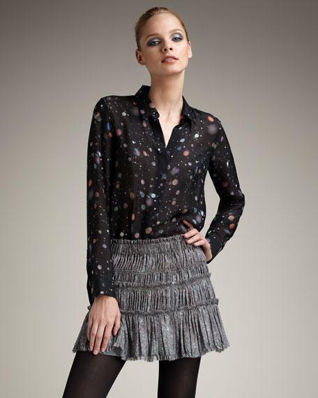 Smocked Fringe Skirt