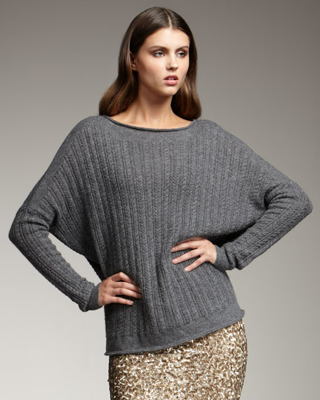Mini-Cable-Knit Sweater