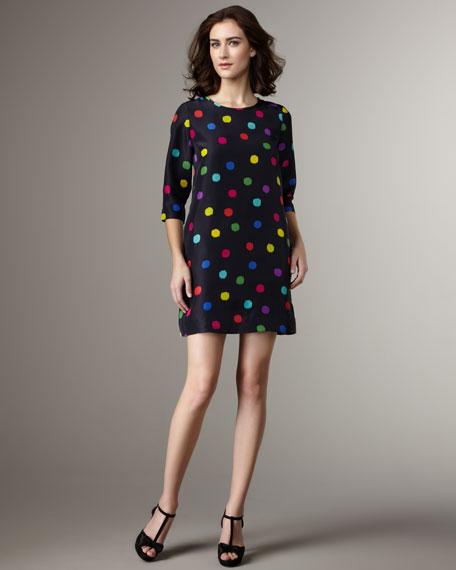 belina dot shift dress