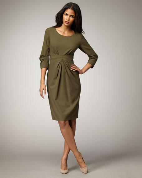 Gathered-Waist Dress