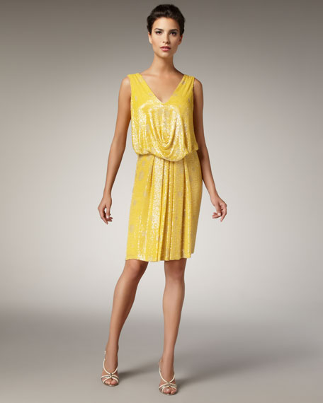Sequined Polka-Dot Dress