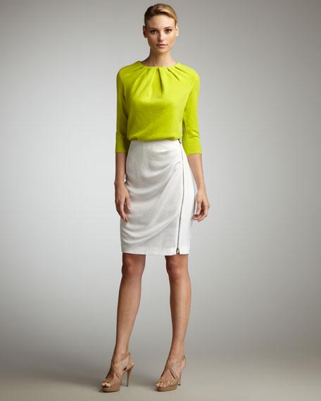 Pencil Draped Skirt