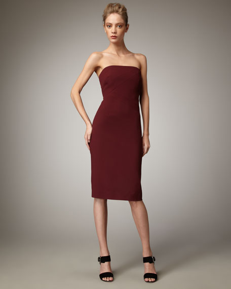 Strapless Wool Dress