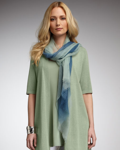 Ombre Lightweight Wool Scarf
