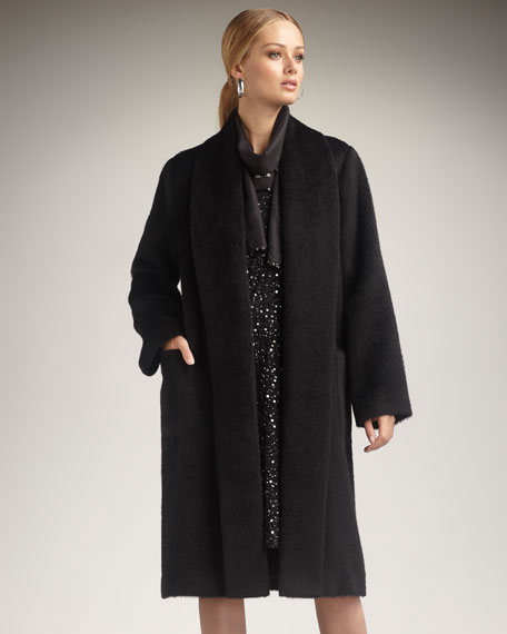 Alpaca Shawl-Collar Coat