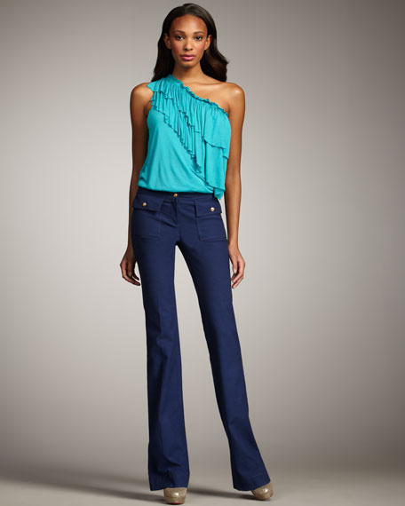Front-Pocket Twill Pants