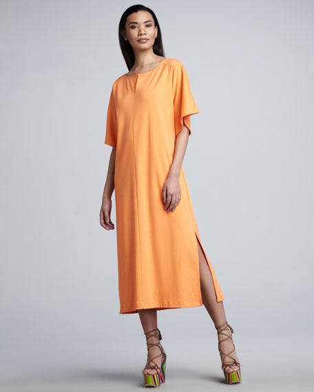 Classic Dolman-Sleeve Midi Dress