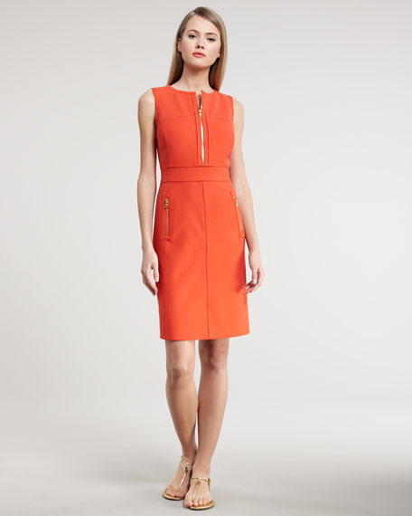 Mariel Zip-Detailed Dress