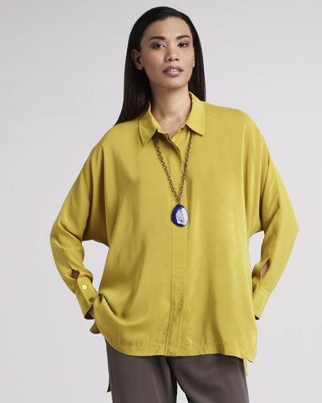 Eileen Fisher Boxy Silk Blouse