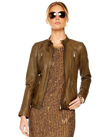 Zip Motorcycle Jacket, Women's