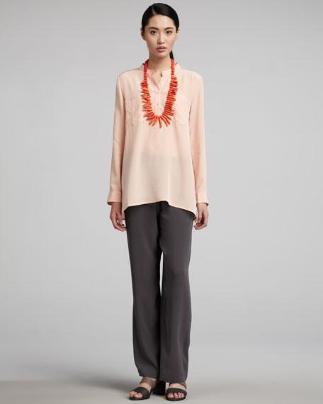 Silk-Georgette Pants, Women's