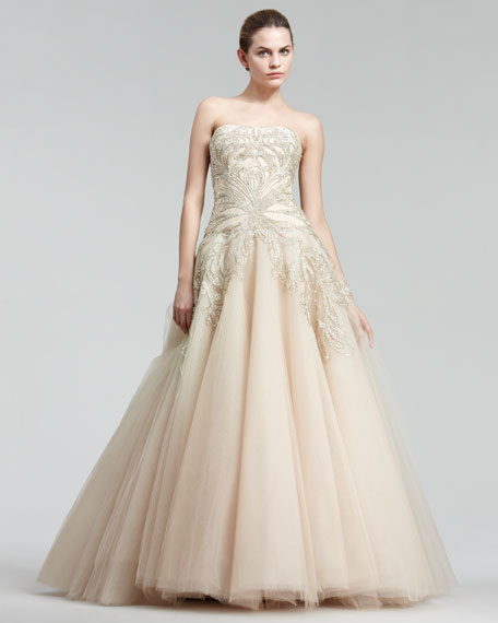 Embroidered Princess Gown