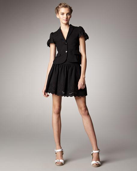 Lace-Hem Skirt