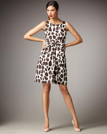 jillian giraffe-print sheath dress