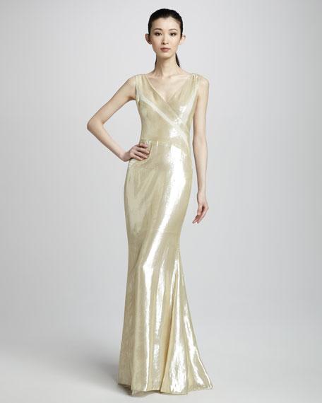 Panne Velvet Gown